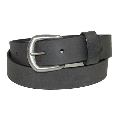 mens tanned pull up leather belt with removable buckle