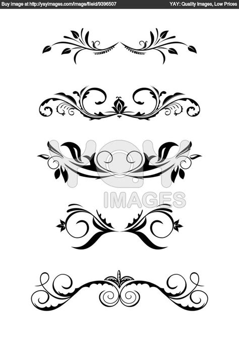 header vintage design ornamental clipart footer pencil and in color ornamental