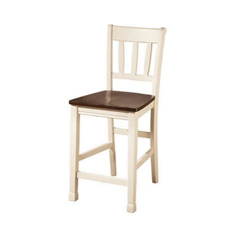 White And Brown Bar Stools Whitesburg 24 Quot Rake Back Counter Stool In Brown And