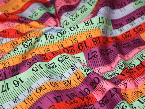 printable fabric measuring tape purple multi tape measure sewing print cotton poplin