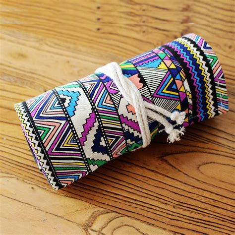 Pencil Box Handmade - tripleclicks canvas handmade pencils bag 36 holes