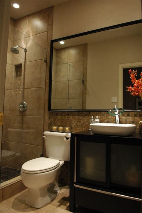 Bathroom Mirror Ideas For A Small Bathroom Small Bathroom Transformation For The Home Glasses Walk In And Glass Doors