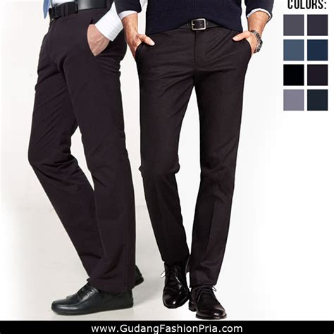 Celana Panjang Formal Slim Fit Cowokpria celana formal pria slim fit mens slim fit formal