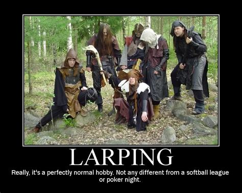 Larping Meme - random distribution distro 1 podcast 187 geek culture t