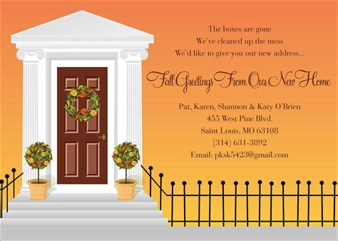 new home card template house opening invitation card