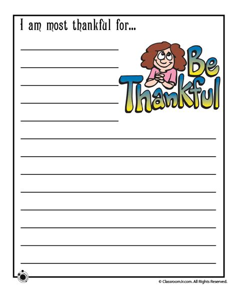 writing template for thanksgiving cards kindergarten gratitude worksheet woo jr activities