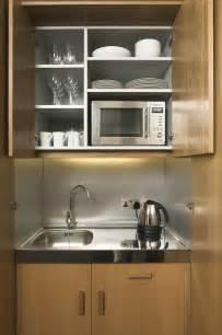 the mini kitchen