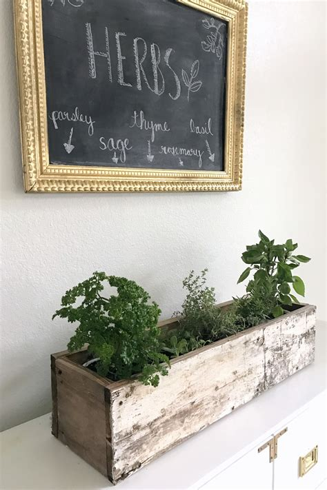 diy herb garden box diy wooden herb planter box