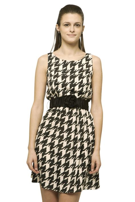 Dress Houndstooth at houndstooth flower dress from belmont by