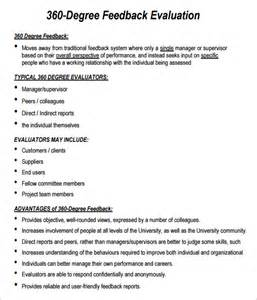 360 feedback template 360 evaluation 6 free for pdf sle templates