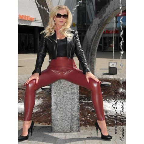 kunstleder leggings razer crazy outfits webshop fuer
