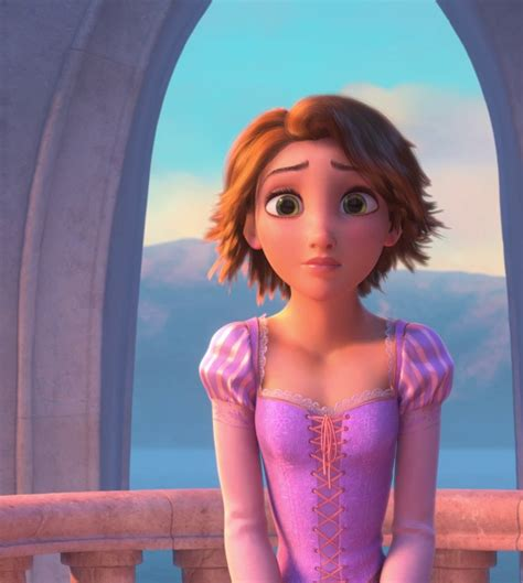 rapunzels short haircut should rapunzel be featured with short hair instead of