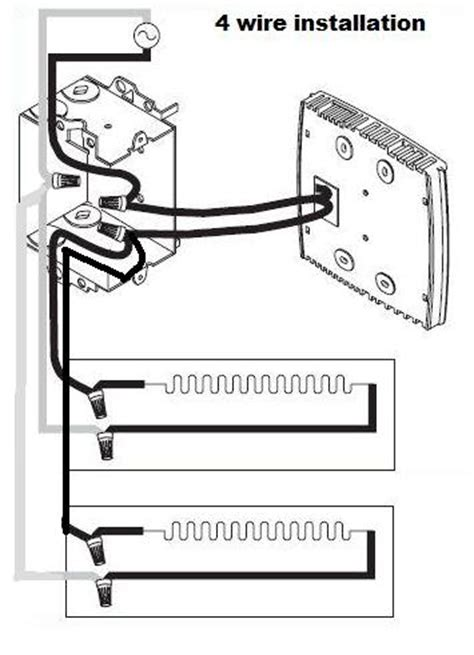 cadet baseboard thermostat wiring diagram all about