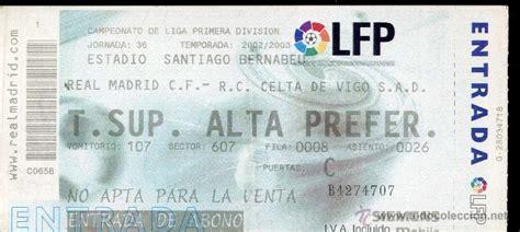 entradas celta real madrid ag entrada futbol football ticket celta de vigo comprar