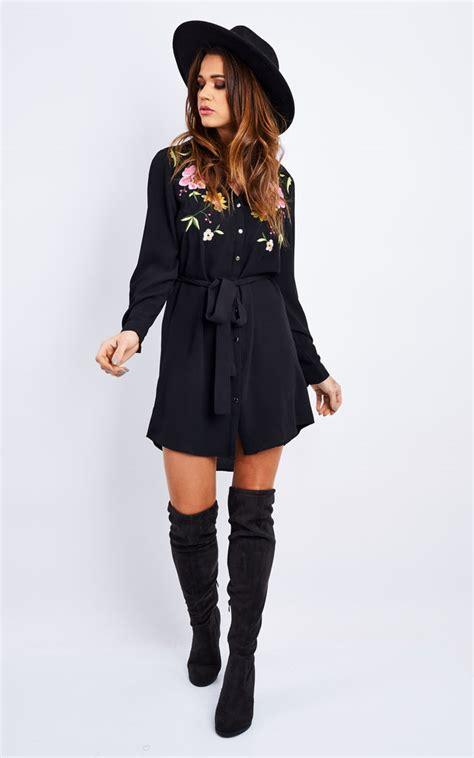 Embroidery Shirtdress embroidery shirt dress silkfred
