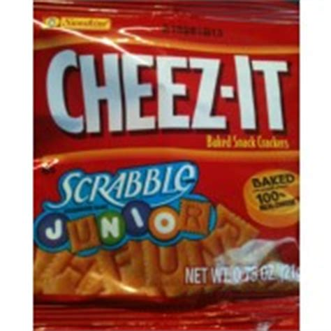 cheez it scrabble cheez it crackers cheddar scrabble junior 75 oz single