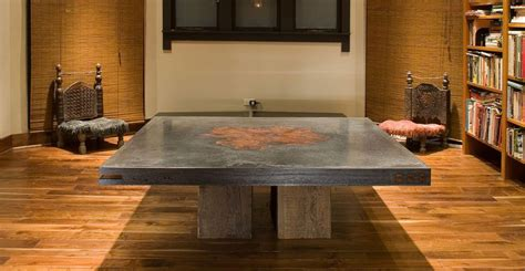 concrete and wood dining table tips to decorate the