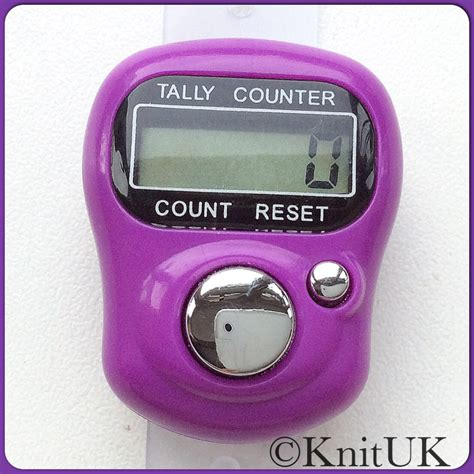 Diskon Tally Counter Digital Finger lcd tally counter finger held knitting row counter knituk