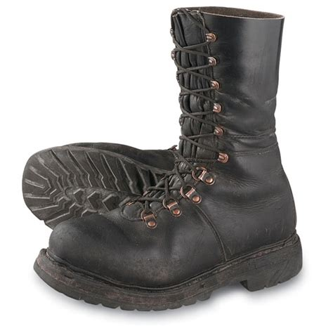 boots s s used austrian mil ranger boots black 50863