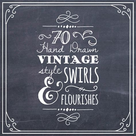 Wedding Fonts For Photoshop by Clipart Swirls Flourishes In Chalkboard Photoshop