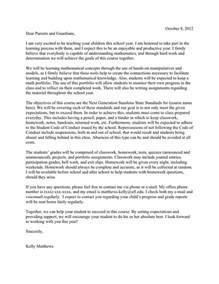 parent letter teaching portfolio matthews