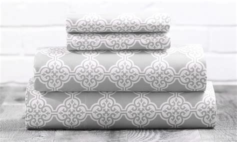 microfiber sheet sets patterned microfiber sl home fashions scroll pattern sheet sets 3