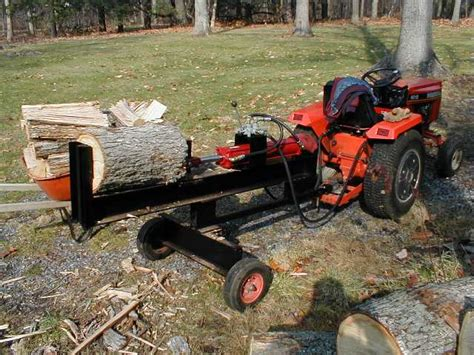 home made log splitter cavareno home improvment