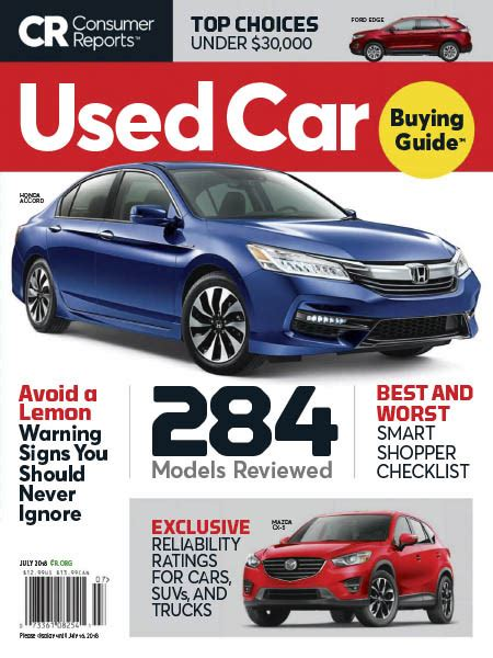 Consumer Reports Car Buying by Consumer Reports Used Car Buying Guide July 2018