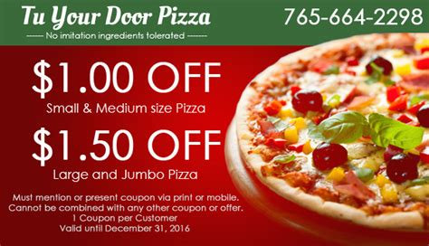 Tu Your Door by Tu Your Door Pizza Restaurant Marion In