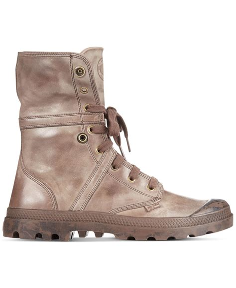 palladium pallabrouse baggy l2 boots in brown for lyst
