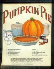 retro vintage primitive country sign pumpkin pie recipe wall