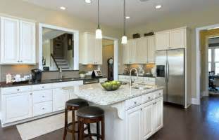 Home Styles Nantucket Kitchen Island traditional kitchen with simple granite counters amp flush