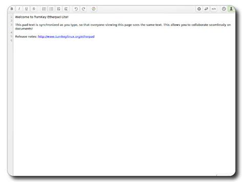 etherpad lite etherpad exle pad turnkey gnu linux screenshot