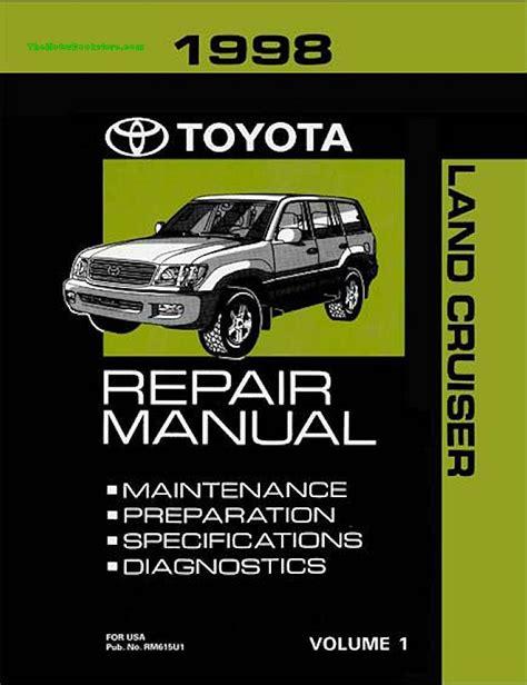 service manual motor auto repair manual 1998 toyota tacoma free book repair manuals service 1998 toyota land cruiser oem repair manual rm615u