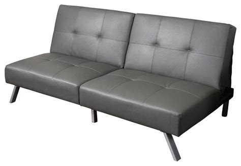Vinyl Futon by Heston Vinyl Click Clack Futon Sofa Bed Grey Modern