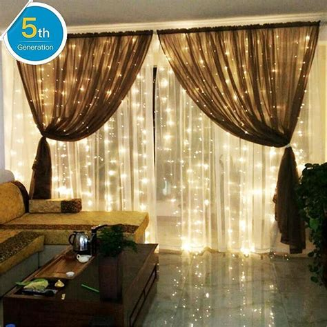 string lights for living room amars safe voltage bedroom string led curtain lights waterfall window lights outdoor indoor led