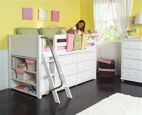 bedroom how to build a loft bed low loft beds for kids maxtrix kids low loft bed w built in dresser bookcase