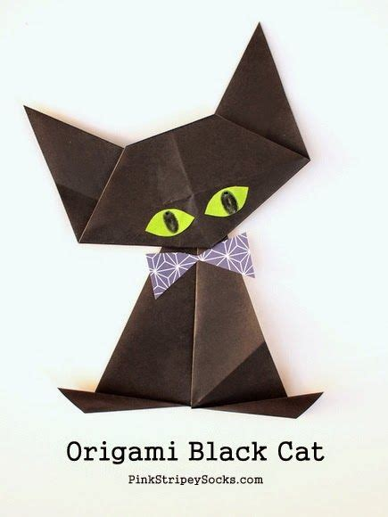 How To Origami Cat - origami black cat bow ties how to make an and origami