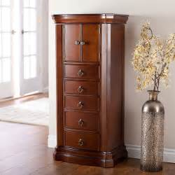 Door Jewelry Armoire Belham Living Luxe 2 Door Jewelry Armoire Mahogany