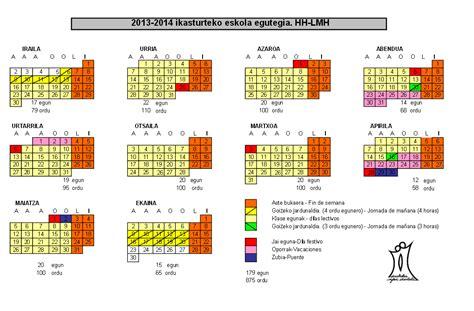 calendario vasco calendario escolar 2013 2014 calendarios