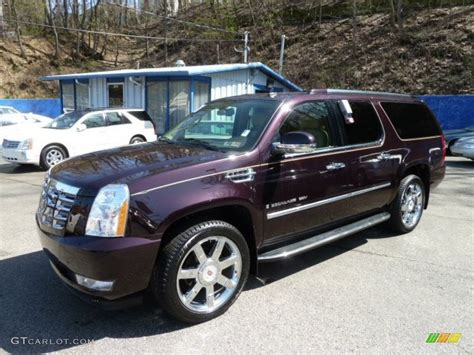 2009 black cherry cadillac escalade esv awd 62865496 gtcarlot car color galleries