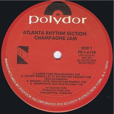 atlanta rhythm section chagne jam roots vinyl guide