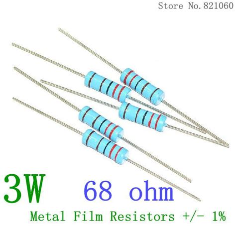 68 ohm resistor prius compre wholesale 3w resistores de pel 237 cula met 225 lica 68 ohmios 1 3w 68r color resistencia