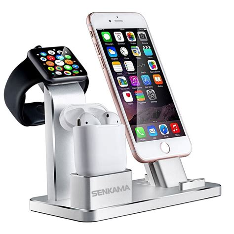 senkama 4 in 1 desktop bracket stand portable charging dock station holder for iphone se 6 6s 7