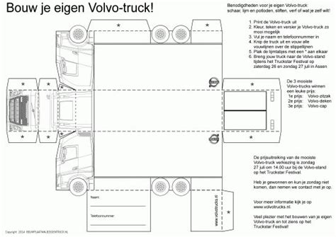 build your own volvo truck 131 best bouwplaatvanjeeigentruck nl paper models
