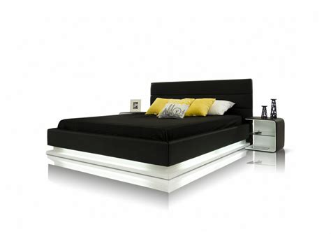 Platform Bed With Lights Modrest Infinity Contemporary Platform Bed With Lights Modern Bedroom Bedroom