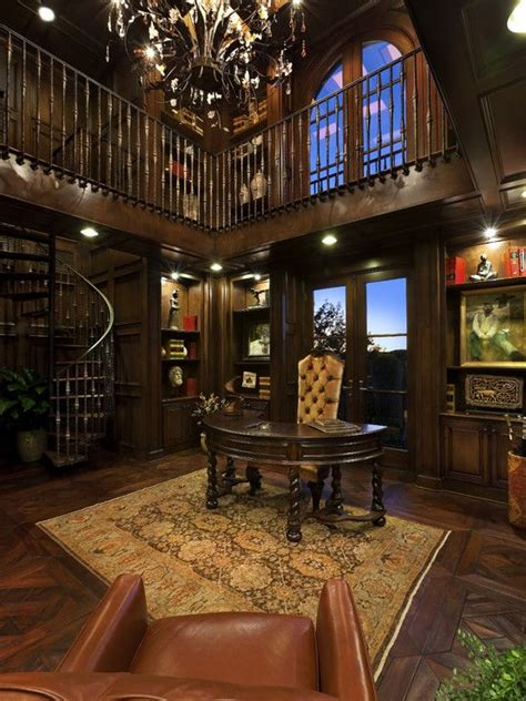 home office library for the home pinterest wow two story office library for the home pinterest