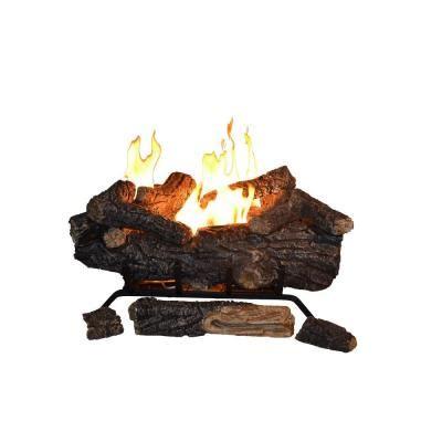 Lp Gas Fireplace Logs by Emberglow Oak 24 In Vent Free Propane Gas