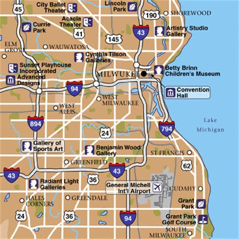 map of milwaukee area general mitchell international airport airport maps maps