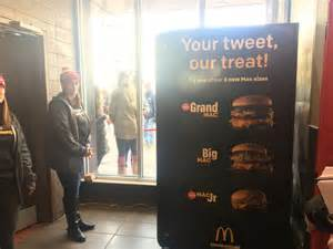 mac machine atm in you missed it a big mac atm set up in boston today